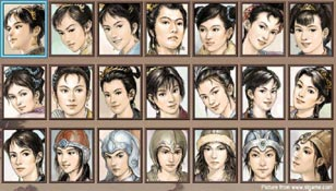 Romance of the Three Kingdoms 7 - female officers.