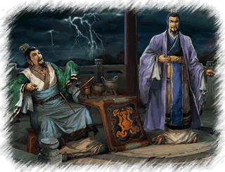 Liu Bei and Cao Cao speak of heroes